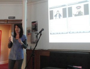 Emma speaking at the Brighton Etsy event - photo courtesy of Sarah Meredith